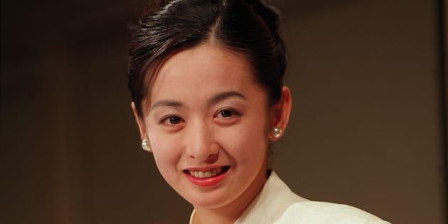 女優の斉藤由貴さん(東京・港区の東京プリンスホテル) 撮影日:1994年10月24日