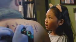 Des parents (un peu fous) se font tatouer les dessins réalisés par leurs