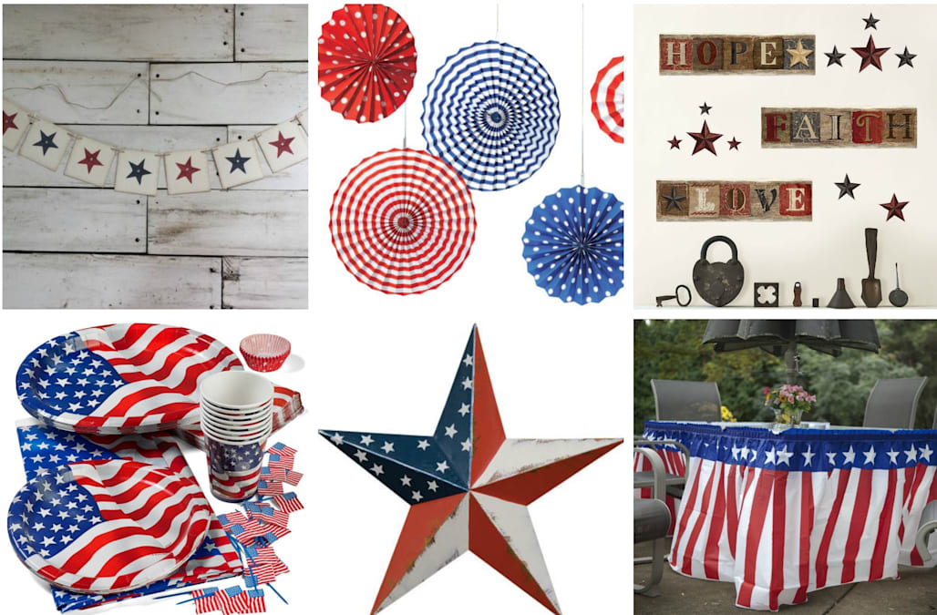4th Of July Home Decor And Decorations You Can Order Online At The Last Minute