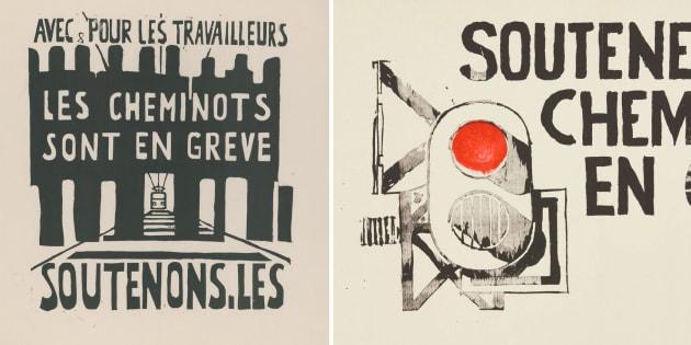 """50 ans de Mai-68 et du """"mouvement du 22 mars"""": des affiches refleurissent en écho à la SNCF."""