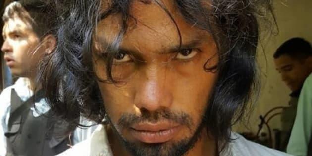 El 'artista antropófago', en una imagen de Instagram colgada por la policía tras su detención.