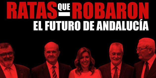 Uno de los polémicos mensajes difundidos por las NNGG del PP andaluz.