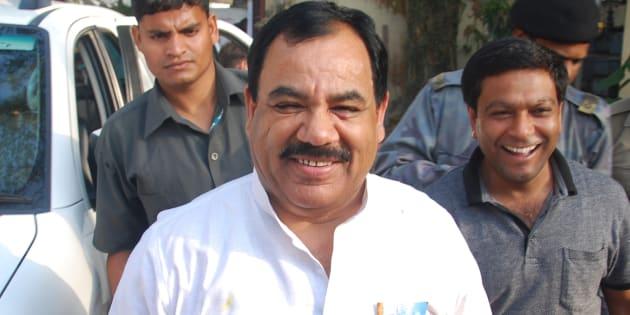 Congress rebel Harak Singh Rawat at Vijay Bahuguna residence on March 31, 2016.