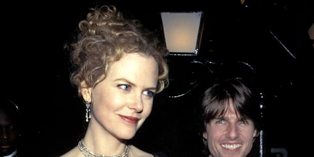 (NO TABLOIDS)    Nicole Kidman & Tom Cruise during The 54th Annual Golden Globe Awards at the Beverly Hilton Hotel in Los Angeles, CA.  (Photo by Kevin Mazur/WireImage)