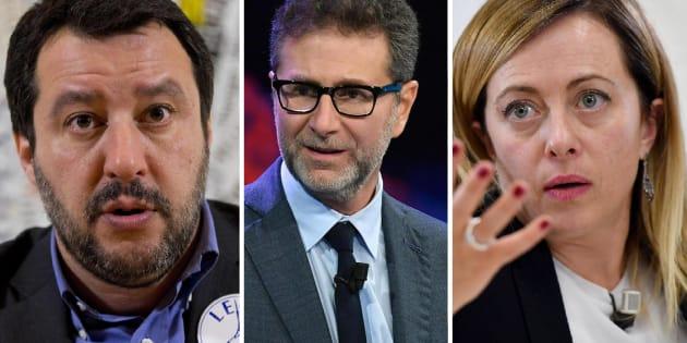 Salvini e Meloni contro Fazio