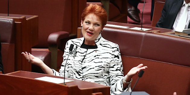 Pauline Hanson says far from being a racist, she's actually a racism victim herself