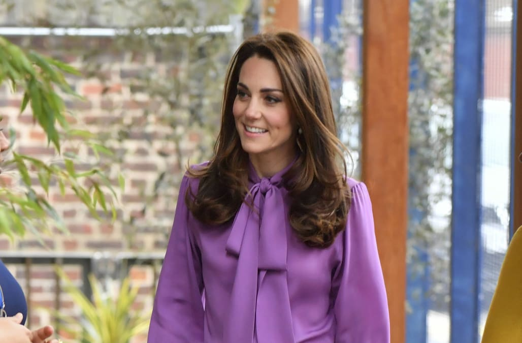 cabace464 Kate Middleton visits London children's center in Gucci - AOL Lifestyle