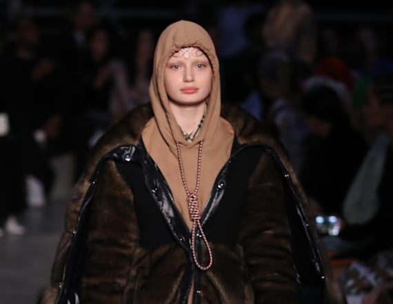 Burberry sends model wearing noose down runway