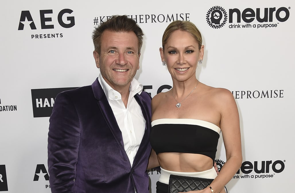 robert herjavec shares a special beach photo with kym and the twins