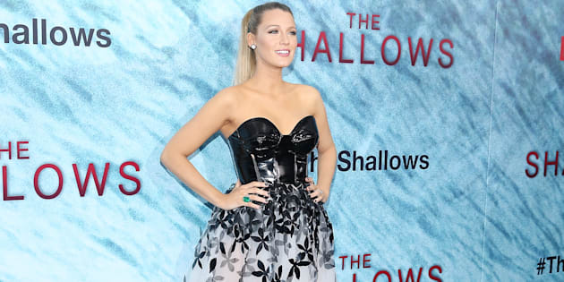 Lively looking fierce at the launch of her new film The Shallows this week.