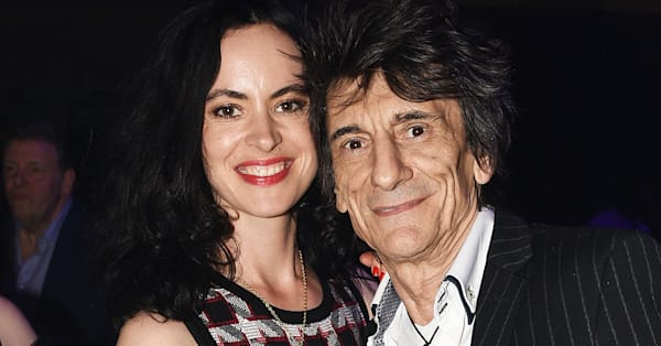 Rolling Stones rocker Ronnie Wood, 70, packs on PDA with wife Sally, 39