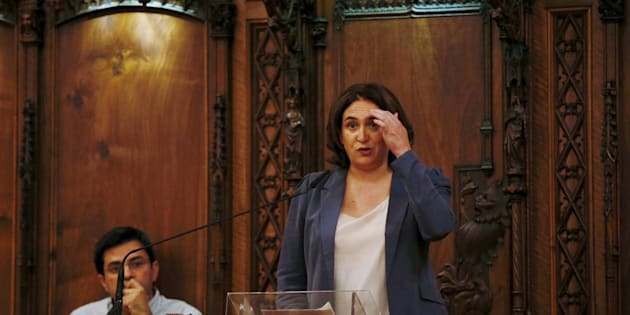 La alcaldesa de Barcelona, Ada Colau, y el primer teniente de alcalde, Gerardo Pisarello, el pasado jueves.