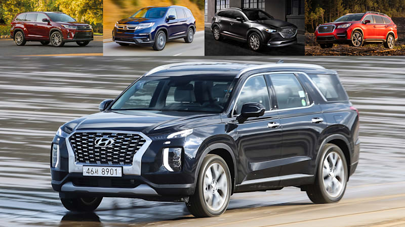 comparison 2020 hyundai palisade vs subaru ascent vs honda pilot vs