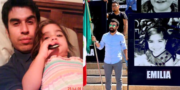 Así recordó Abraham Fraijo a su hija Emilia, quien falleció en el incendio de la Guardería ABC.