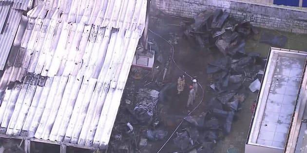 Captura de la zona incendiada.
