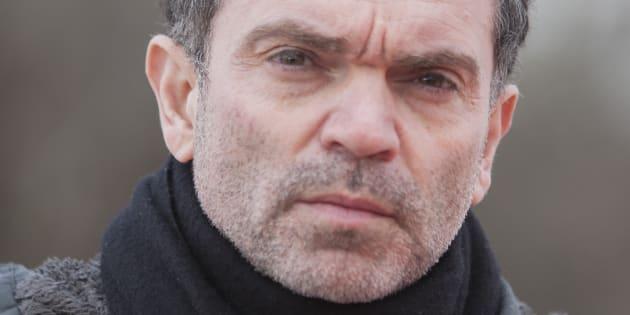 Yann Moix, à Calais le 5 mai 2018
