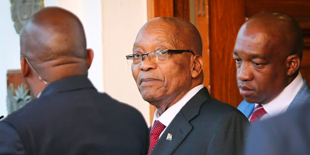 President Jacob Zuma leaves Tuynhuys, the office of the Presidency at Parliament in Cape Town, South Africa, February 7, 2018.
