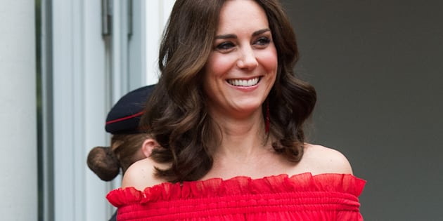 BERLIN, GERMANY - JULY 19:  Catherine, Duchess of Cambridge attenda The Queen's Birthday Party at the British Ambassadorial Residence on the first day of their visit to Germany on July 19, 2017 in Berlin, Germany. The royal couple are on a three-day trip to Germany that includes visits to Berlin, Hamburg and Heidelberg.  (Photo by Matthias Nareyek - Pool/Getty Images)