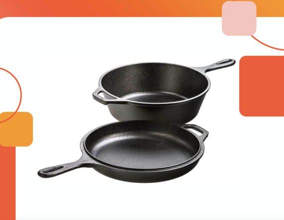 This 4-in -1 cast iron combo cooker is now only $40