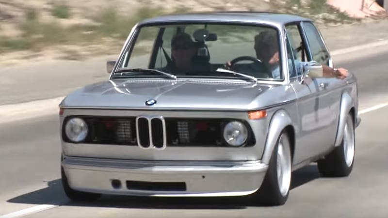 Jay Leno drives a BMW 2002 with an E30 M3 engine