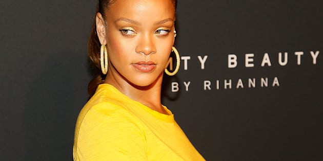Rihanna arrives to the Fenty by Rihanna Launch at the Duggal Greenhouse on September 7, 2017 in New York City.  (Photo by Paul Morigi/WireImage)