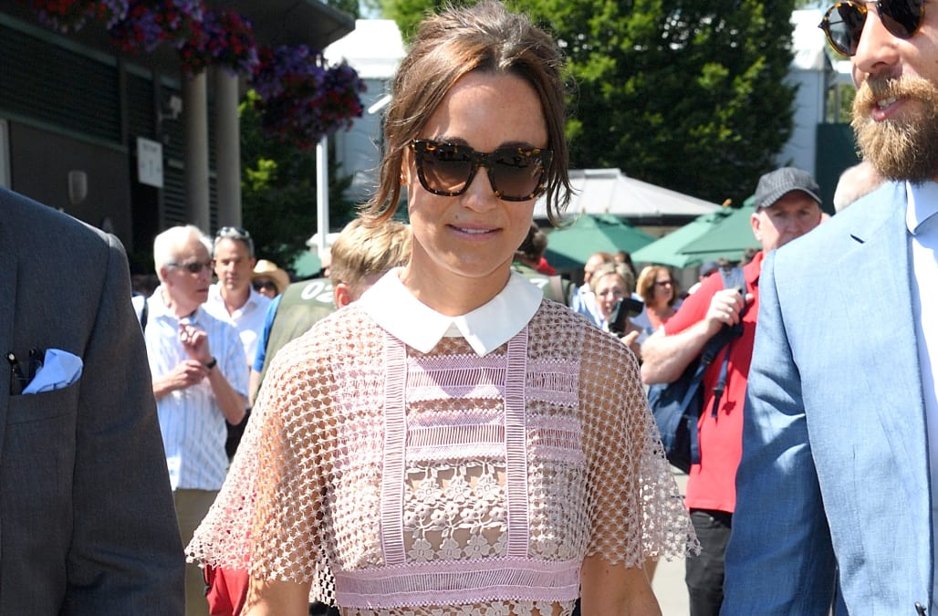 Pippa Middleton was spotted for the third time this year attending the  iconic tennis championships at Wimbledon. Walking hand in hand with husband  James ... 1def11d0842