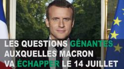 Pas d'interview du 14-Juillet : Les 5 questions gênantes auxquelles Macron va