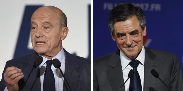 Alain Juppé et François Fillon lors de leur dernier meeting pour la primaire de la droite
