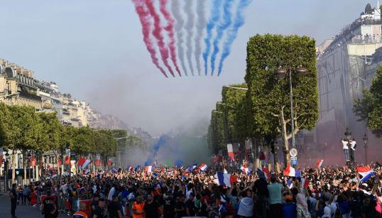 Las fotos más espectaculares de la celebración del Mundial en