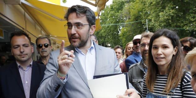 Huerta en la Feria del Libro de Madrid en 2017.