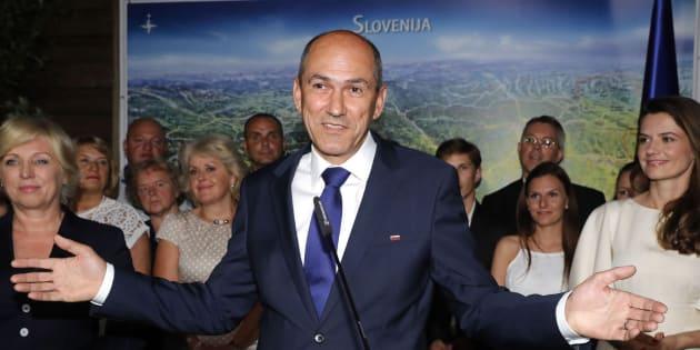 El ganador de las elecciones, Janez Jansa.