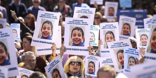Concentración en las calles de Almería por Gabriel Cruz, el pasado 3 de marzo.
