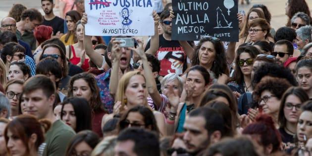 Concentración en Murcia contra la sentencia de 'La Manada'.