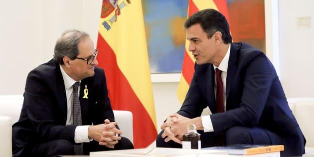 Reunión entre Pedro Sánchez y Quim Torra.
