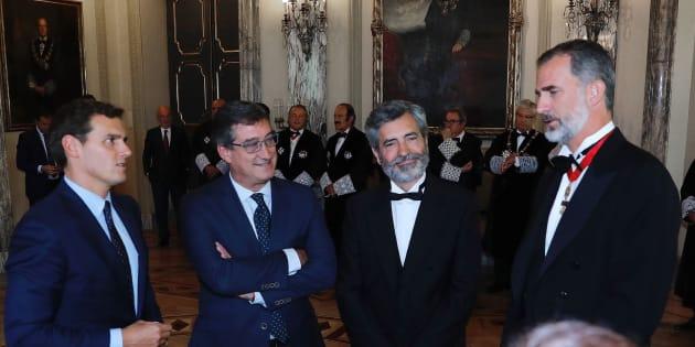 Rivera, Prendes, Lesmes y Felipe VI