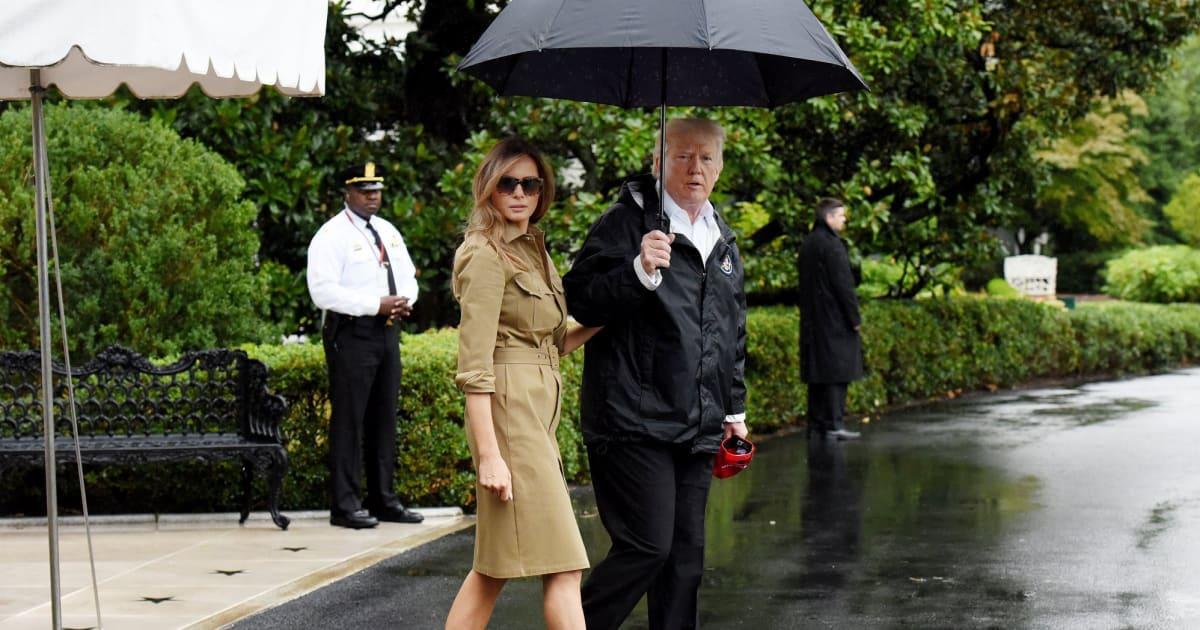 Trump visita un refugio de evacuados por Harvey en Houston