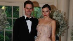 Miranda Kerr ed Evan Spiegel aspettano il loro primo