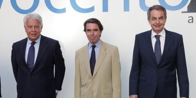 González, Aznar y Zapatero