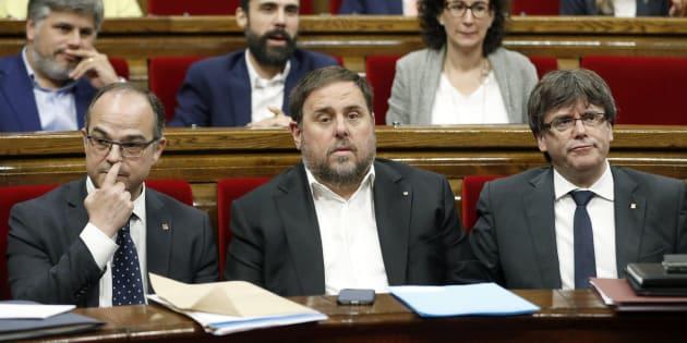 Turull, Junqueras y Puigdemont