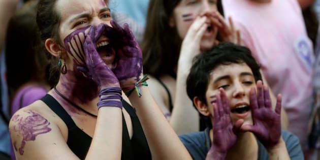 Manifestación en Madrid el 22 de junio ante el Ministerio de Justicia.