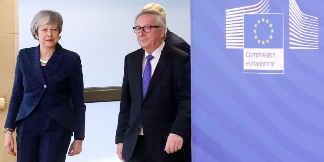 May y Juncker este jueves en Bruselas.