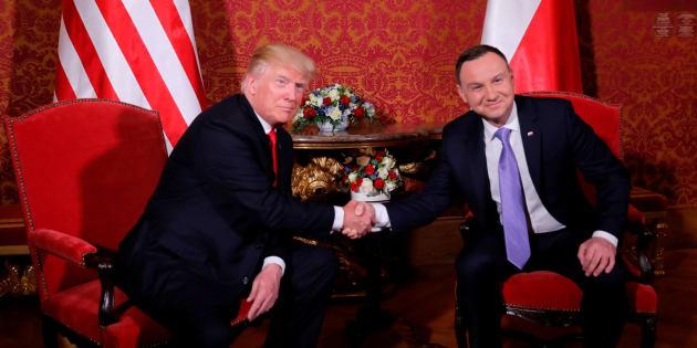 El presidente de EEUU, Donald Trump, y su homólogo polaco, Andrzej Duda, durante su encuentro este jueves en Varsovia.
