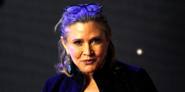 Carrie Fisher en el estreno de 'Star Wars, El Despertar de la Fuerza', en Londres, en diciembre de 2015.