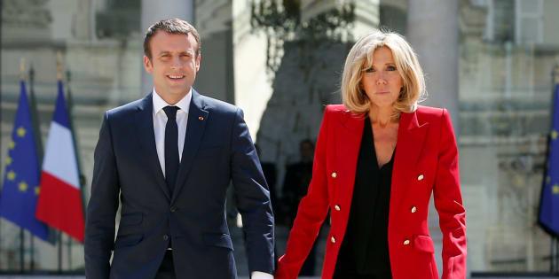El matrimonio Macron en una imagen de archivo.