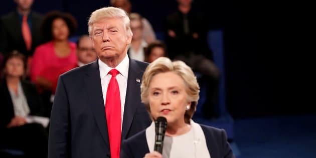 Donald Trump y Hillary Clinton durant la campaña electoral de 2016.
