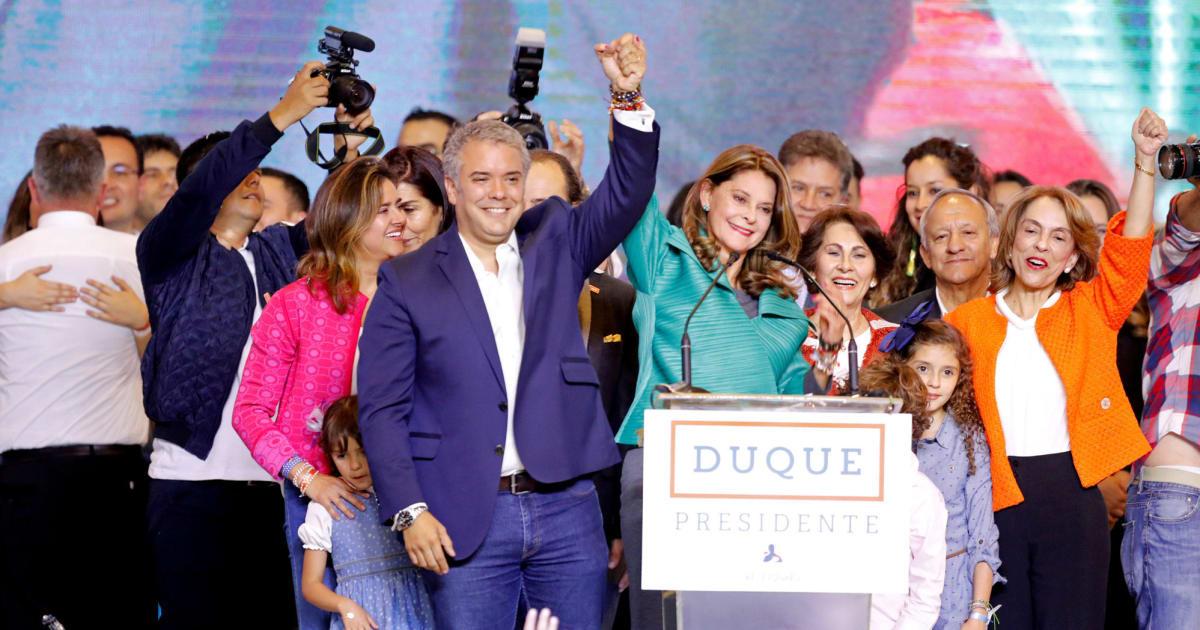 El uribista iv n duque gana las elecciones presidenciales - Chino arroyomolinos ...