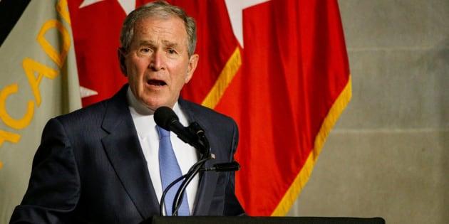 El expresidente de EEUU, George W. Bush, durante su discurso del pasado jueves.
