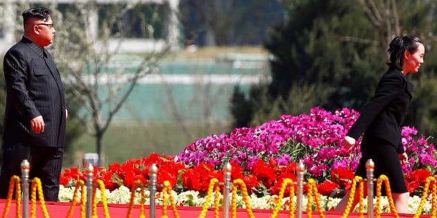 Imagen de archivo del líder norcoreano Kim Jong Un y su hermana Kim Yo Jong.