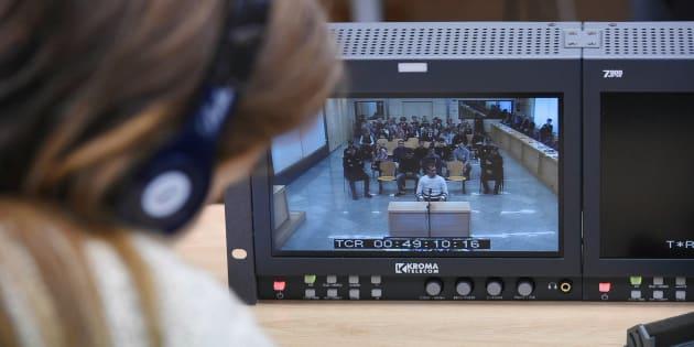 Imagen del primer día del juicio por la agresión de Alsasua.