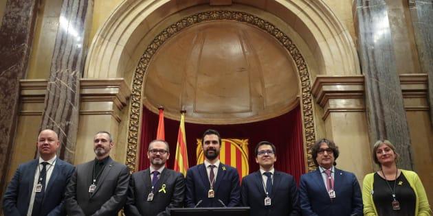 Nuevos miembros de la Mesa del Parlament